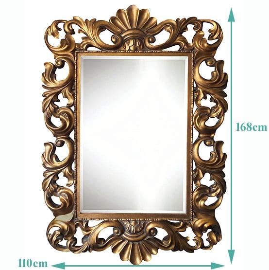 barok spiegel fouquet goud sizes