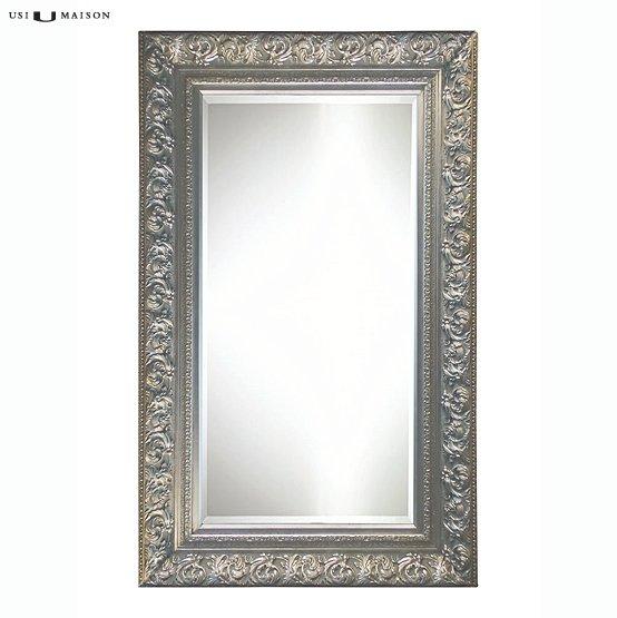 Prachtige barok spiegel da vinci zilver direct leverbaar bij usimaison - Barok spiegel voor badkamers ...