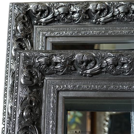 Prachtige Barok Spiegel da Vinci Zilver   Direct leverbaar bij Usimaison