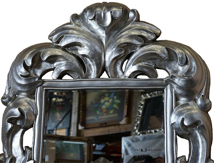 Miroir à crête Klimt - Argent