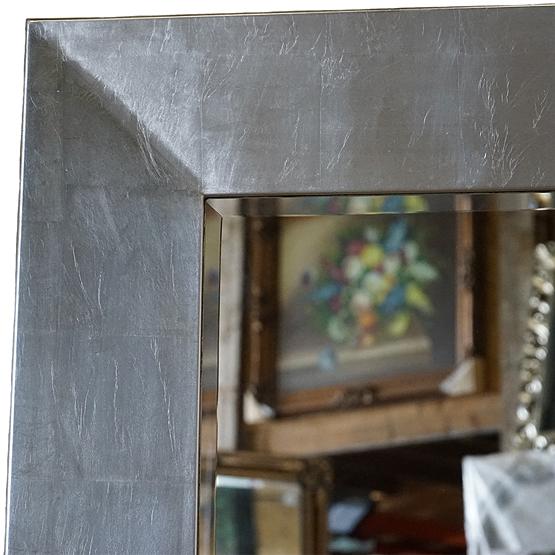 moderne spiegel mondriaan zilver main