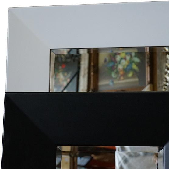 Moderne spiegel Mondriaan  Zwart & Wit  Usi Maison