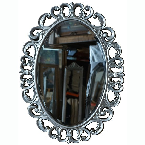ovale spiegels pellegrini zilver