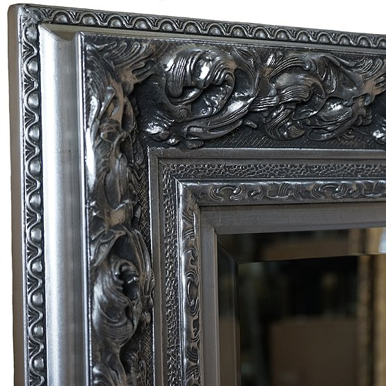 Prachtige barok spiegel da vinci zilver direct leverbaar for Barok spiegel