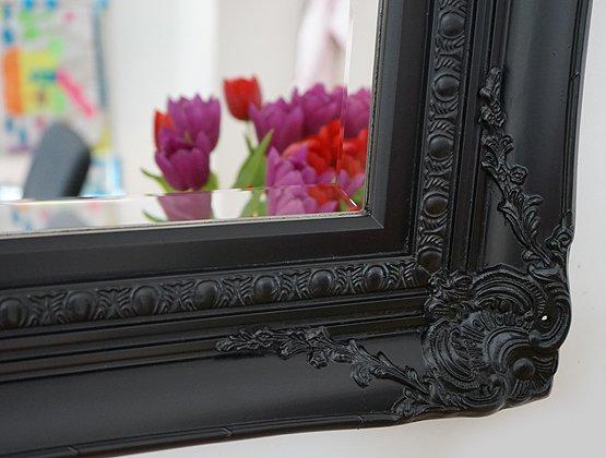 barok spiegel zwart michelangelo detail