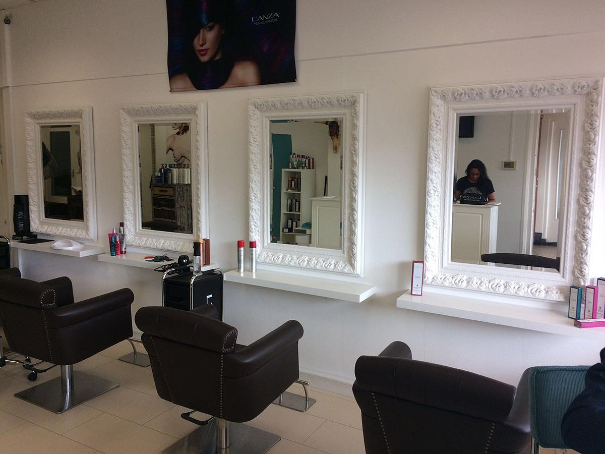 Barok Spiegel Wit : Barok spiegel da vinci zwart of wit klassieke spiegels usi maison