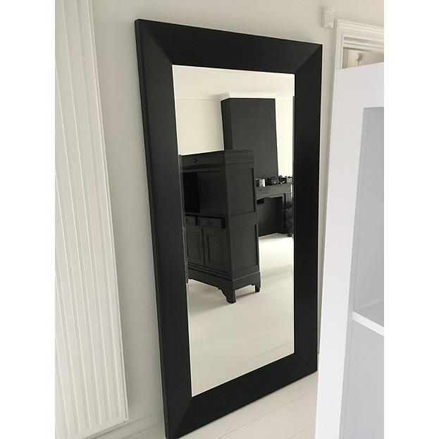 Grote Spiegel Met Brede Lijst.Moderne Spiegel Mondriaan Zwart Wit
