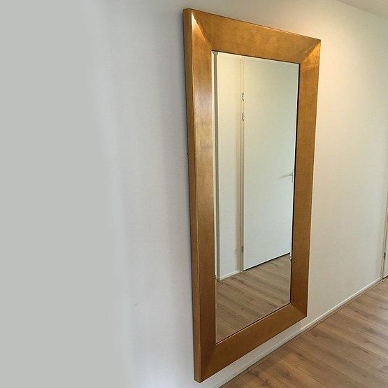 Moderne spiegel mondriaan goud usi maison - Moderne spiegels ...