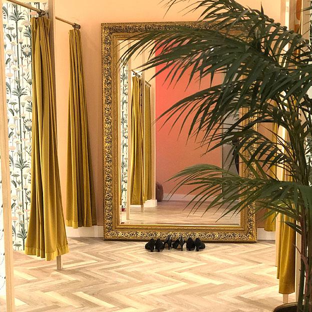 antiek gouden barok spiegel Da Vinci
