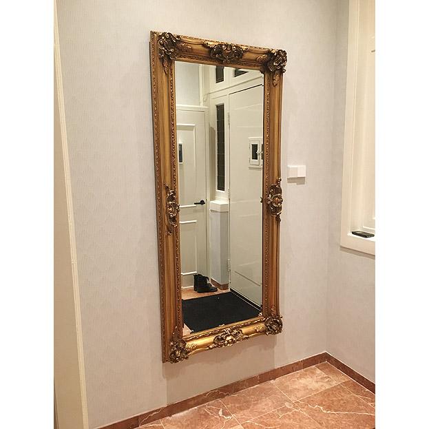 Grote hal spiegel Raffaello in goud