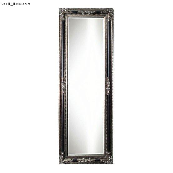 barock spiegel poussin antik silber und schwarz usi maison. Black Bedroom Furniture Sets. Home Design Ideas