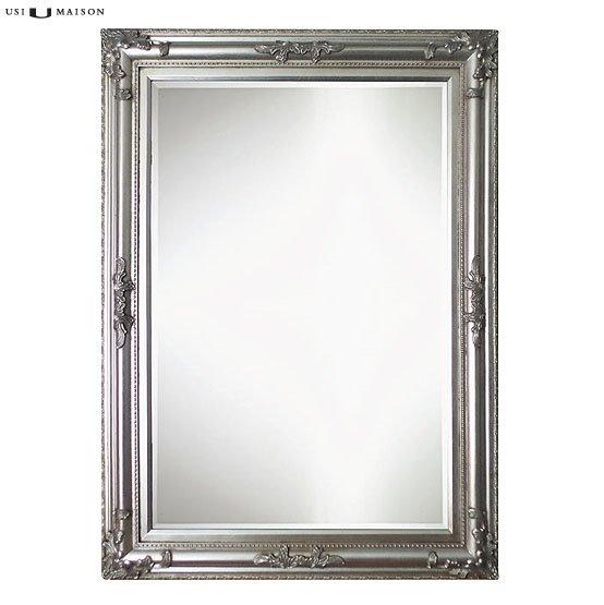 Barok spiegel poussin licht zilver usi maison for Barok spiegel