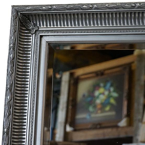 barok spiegel bellini licht zilver main
