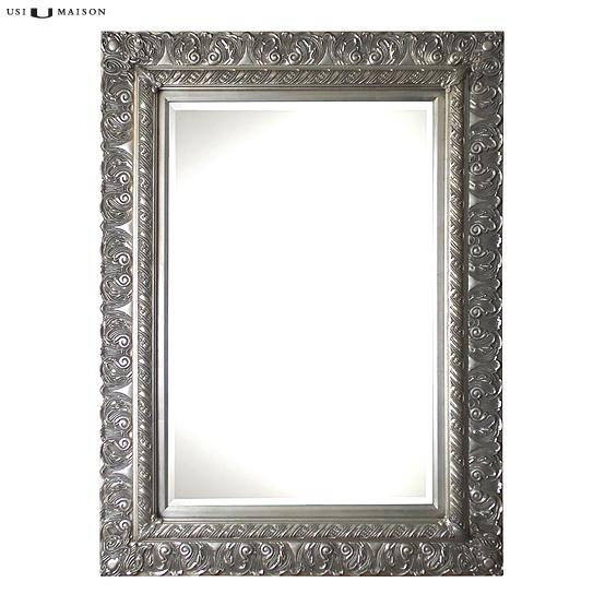 Barok spiegel fuseli licht zilver usi maison - Barok spiegel voor badkamers ...