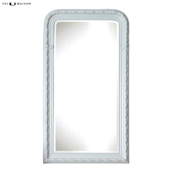 Barok spiegel leonardo zwart wit usi maison for Barok spiegel
