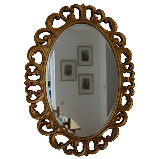 ovale spiegel pellegrini goud