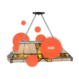 Tiffany lampen in de sale