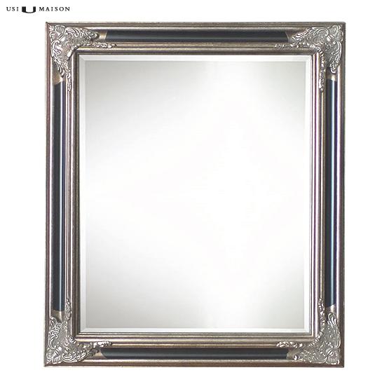 klassischer spiegel lorrain antik silber und schwarz. Black Bedroom Furniture Sets. Home Design Ideas