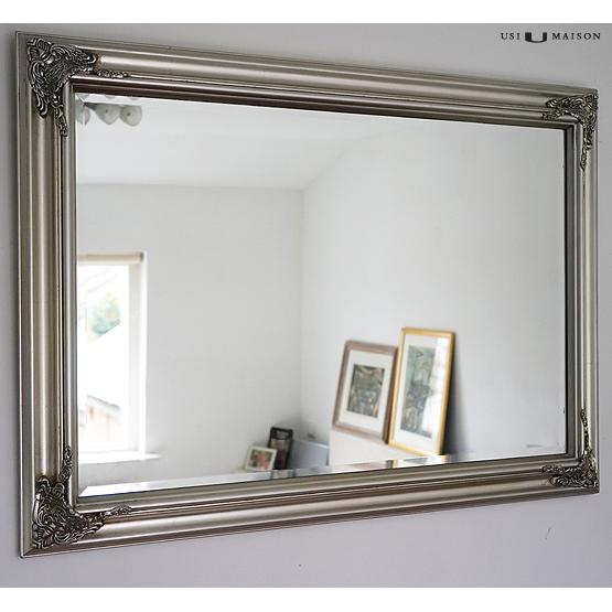klassieke spiegel lorrain licht zilver usi maison. Black Bedroom Furniture Sets. Home Design Ideas