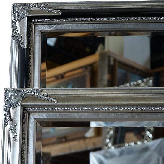 klassieke spiegel rigaud licht zilver