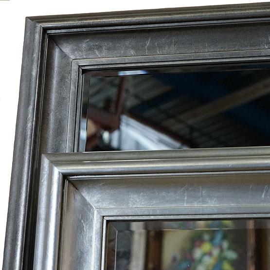 moderne spiegel corneille zilver usi maison. Black Bedroom Furniture Sets. Home Design Ideas