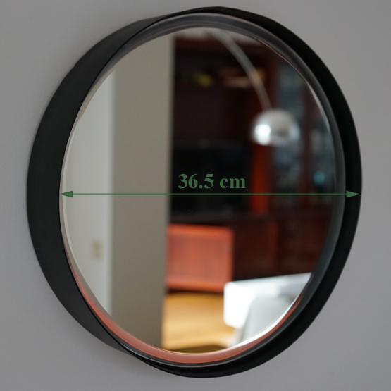 Ronde zwarte spiegel original luna ronde zwarte spiegel for Spiegel rond leer