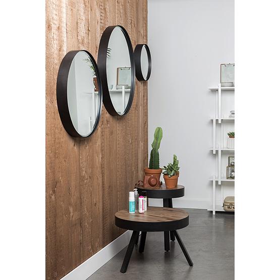 Ronde spiegel raj metaal usi maison for Spiegel met zwarte lijst