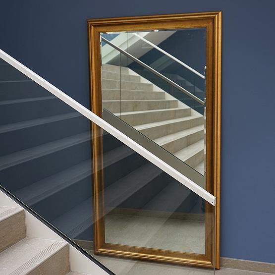 Moderne spiegel corneille antiek goud usi maison for Moderne spiegel