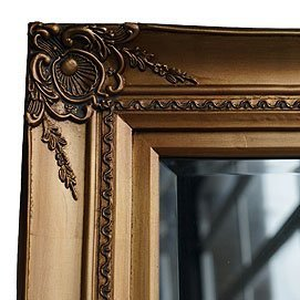 gold frames with bevelled mirrors