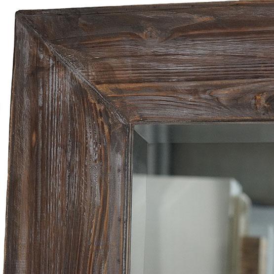 Miroir moderne avec cadre en bois exmoor usi maison for Houten spiegel