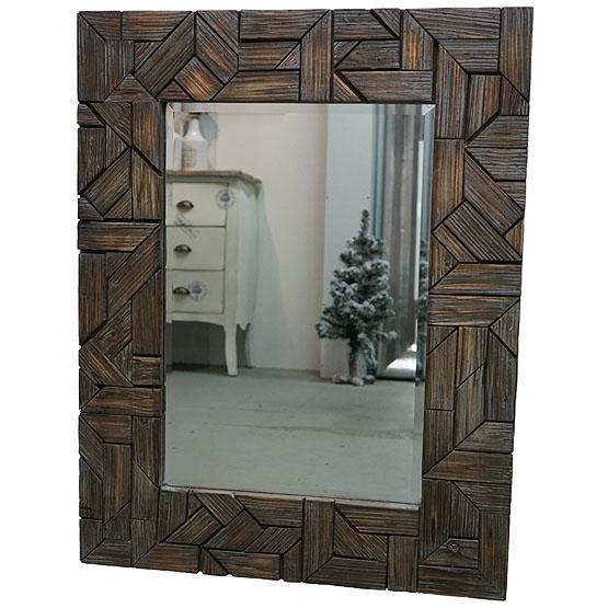 Houten spiegel keswick usi maison for Houten spiegel