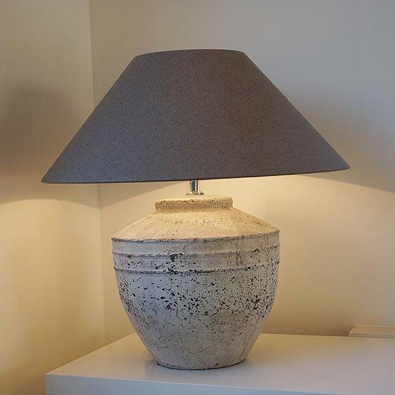 Tafellamp toba keramieke voet en stoffen lampenkap usi maison - Grote tafellamp ...