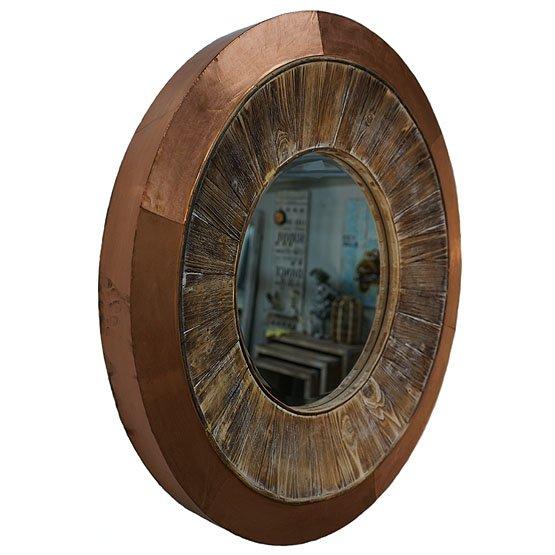 perfect rond hout koper spiegel shakti side with spiegel rond. Black Bedroom Furniture Sets. Home Design Ideas