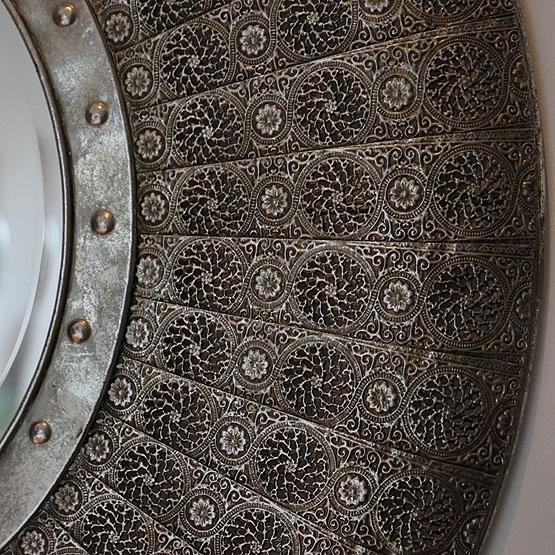 ronde zilveren oosterse spiegel jaipur usi maison. Black Bedroom Furniture Sets. Home Design Ideas