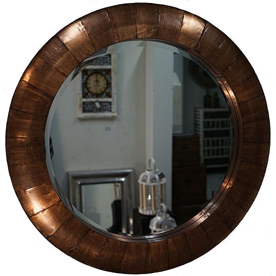 spiegel rond koper mandala