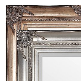 silver frames with bevelled mirrors