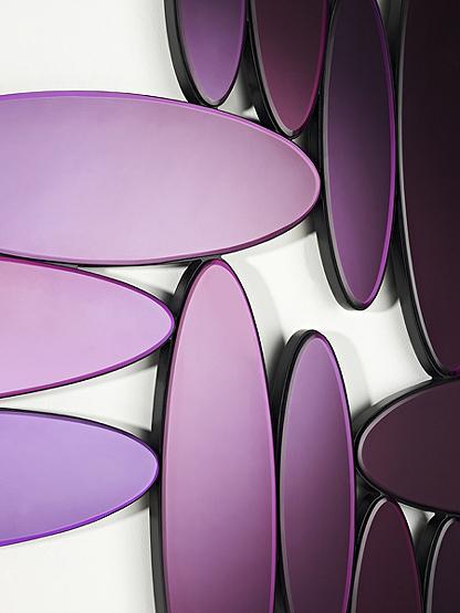 deknudt spiegel ovales purple detail