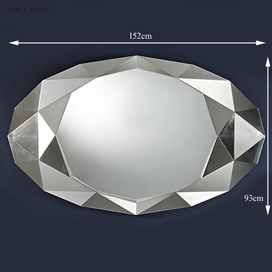 design spiegel precious in zilver deknudt mirrors usi maison. Black Bedroom Furniture Sets. Home Design Ideas