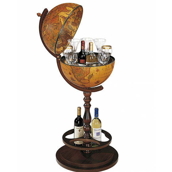 bar globe icaro met verborgen wielen usi maison. Black Bedroom Furniture Sets. Home Design Ideas