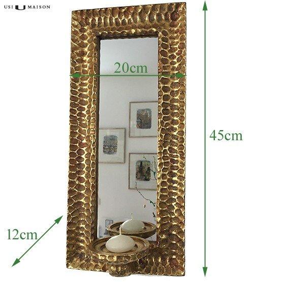 spiegel goud met kaars maten