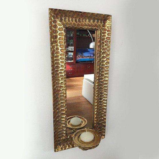 spiegel goud met kaars usi maison
