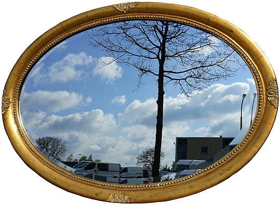 ovale spiegel millet antiek goud