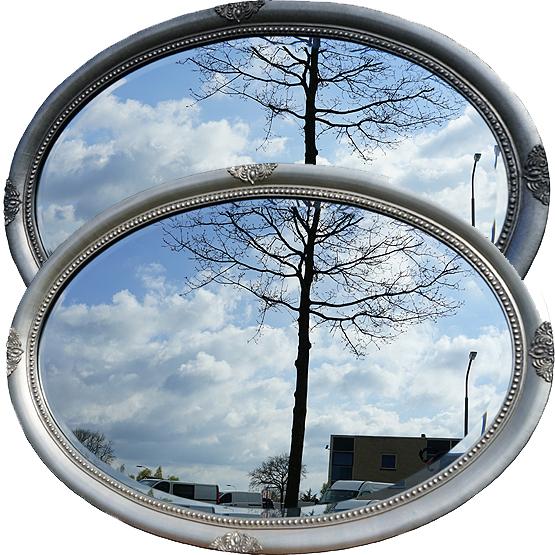 ovale spiegel millet zilver main