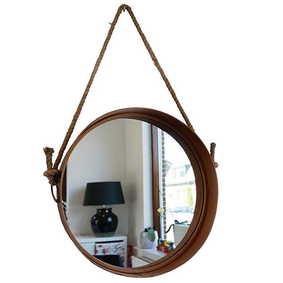 Ronde spiegel detroit goud usi maison for Miroir etroit