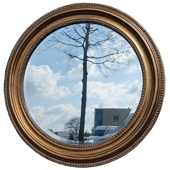 Ronde spiegel zwart ronde spiegel met vintage with ronde for Spiegel rond leer