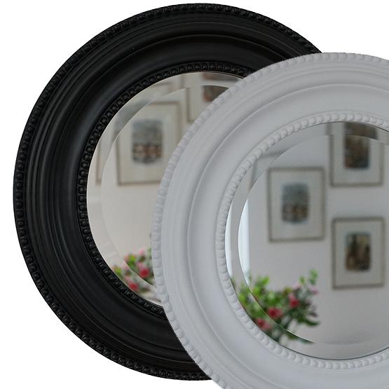Wonderbaar Ronde spiegel Laurens in zwart en wit - Usi Maison KU-39