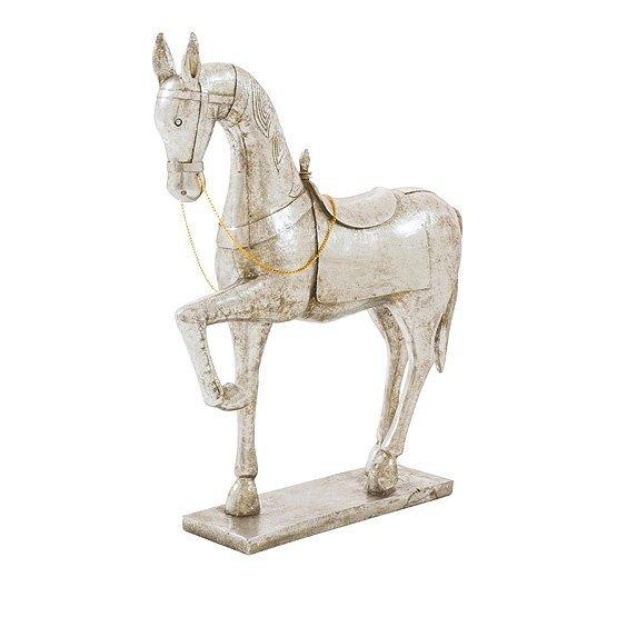 beeld paard bonfire zilver