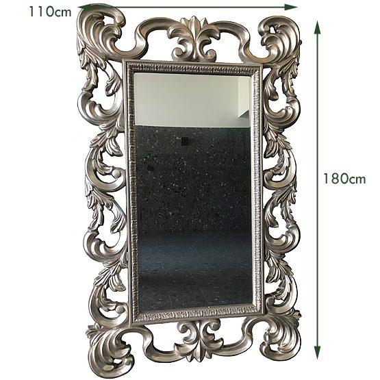 barok spiegel dali zilver