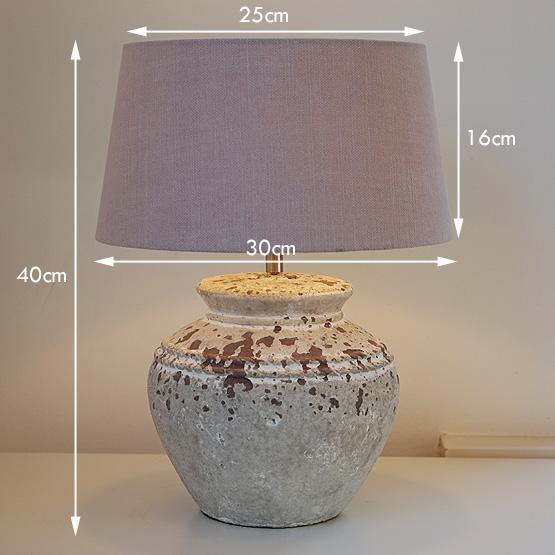 lamp sukaria keramiek antiek maten