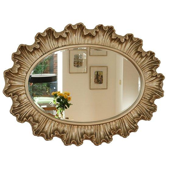 ovaal spiegel versace champagne